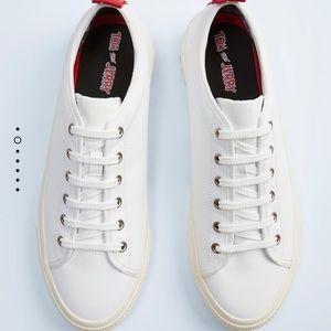 ZARA Warner Bro collection White Fashion Sneaker